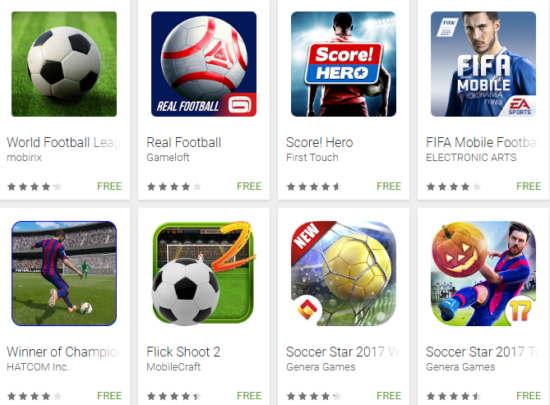 football game app free