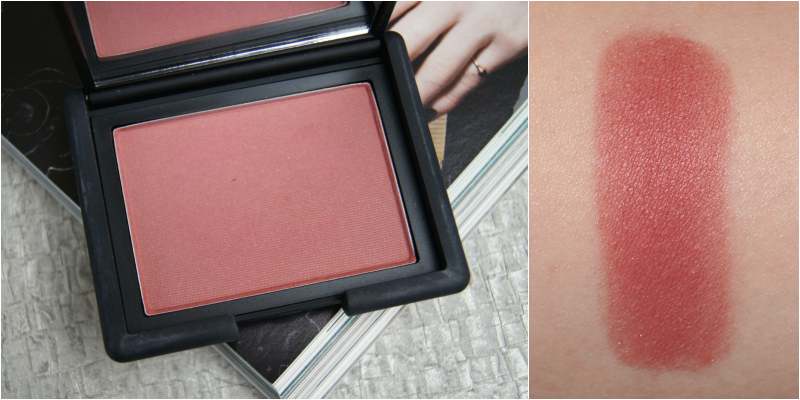nars dolce vita powder blush review swatch plum berry silver shimmer mauve tone looks natural neutral