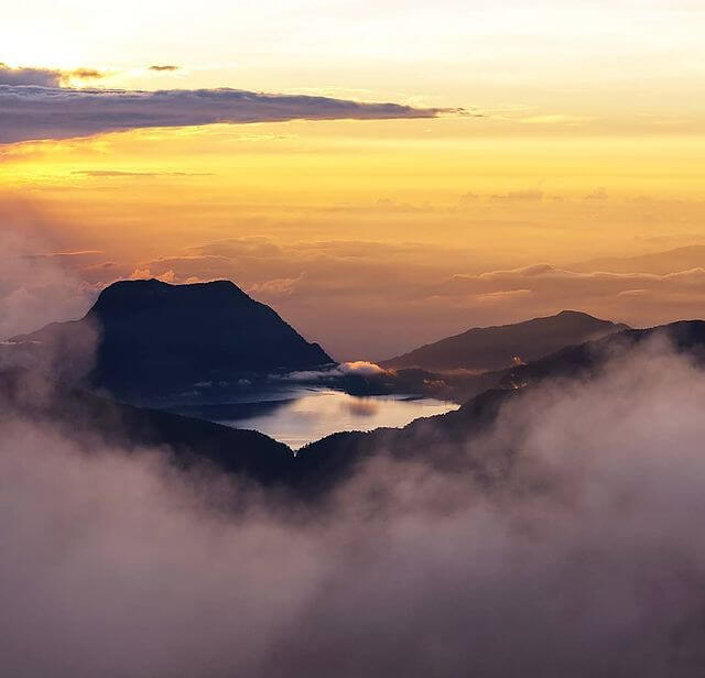 Danau Gunung Tujuh Gunung Kerinci - Foto Instagram panoramakerinci