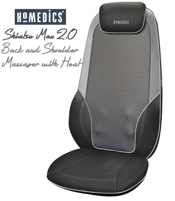 Review of HoMedics Shiatsu Max 2.0 Back and Shoulder Massager with Heat