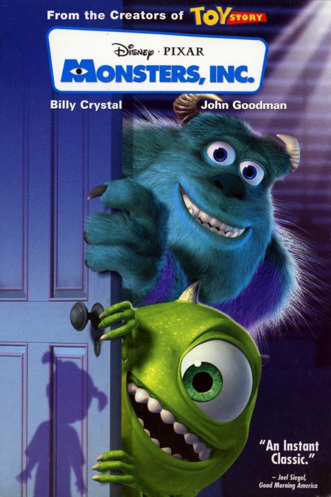 Monsters Inc. 2001 poster animatedfilmreviews.filminspector.com