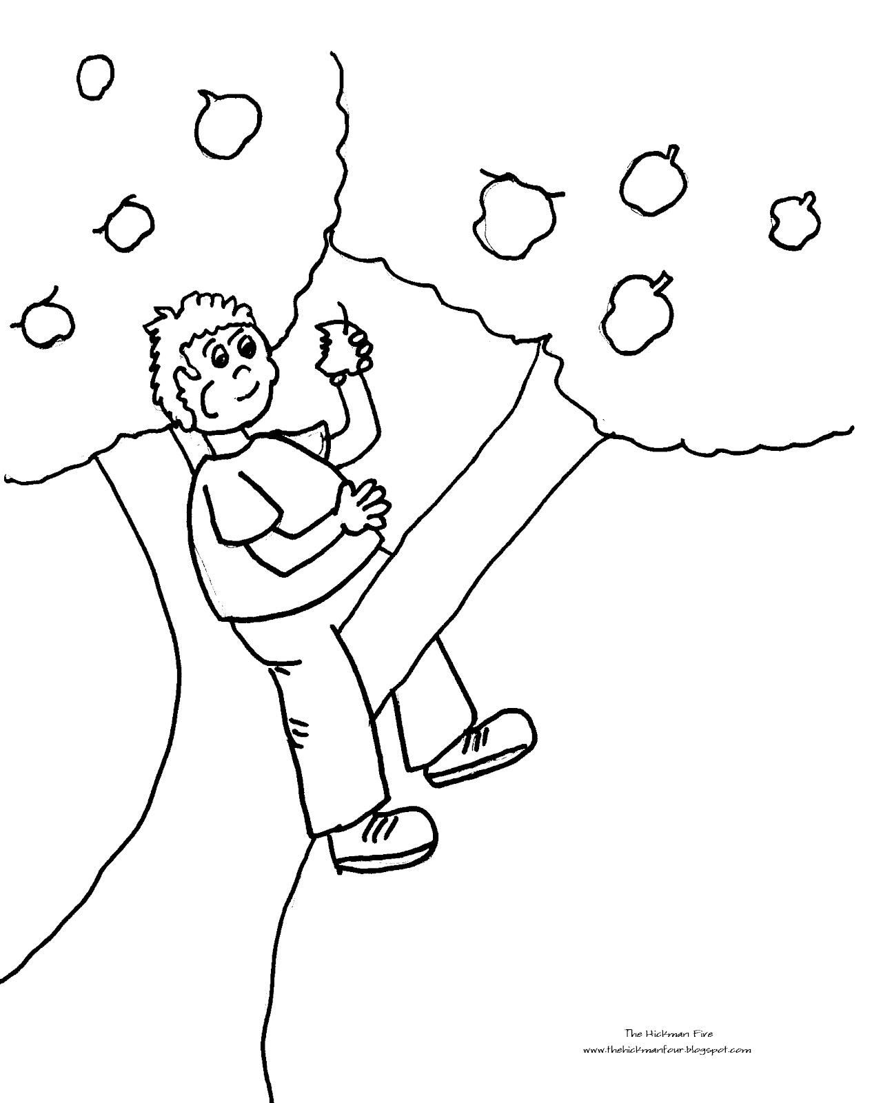 apple tree coloring page apple tree