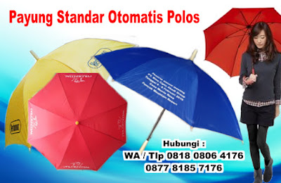 Payung Standard Otomatis Warna Polos, Payung Standar daun polos (bisa di sablon), Payung Standard 1 Warna Polos, Payung standar import