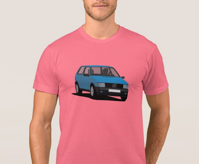 Fiat Uno Mk1  (Type 146) T-shirt blue