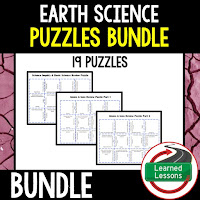Earth Science Puzzles and Google Classroom