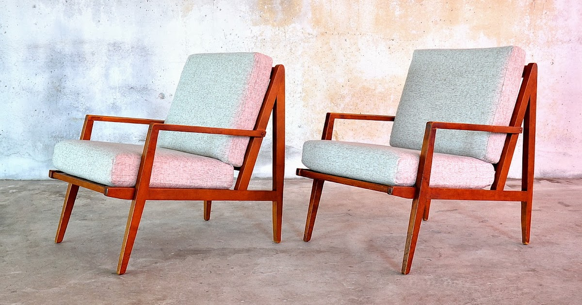 SELECT MODERN: Pair of Danish Modern Lounge Chairs