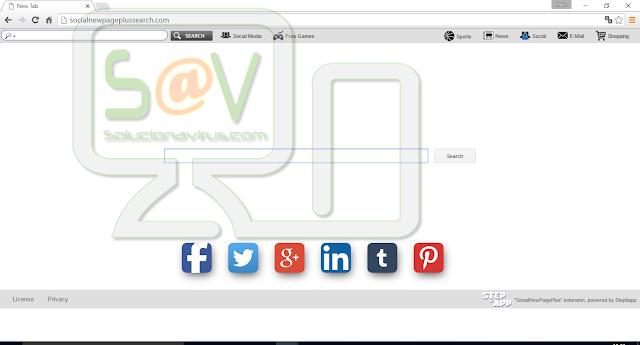Socialnewpageplussearch.com (Hijacker)