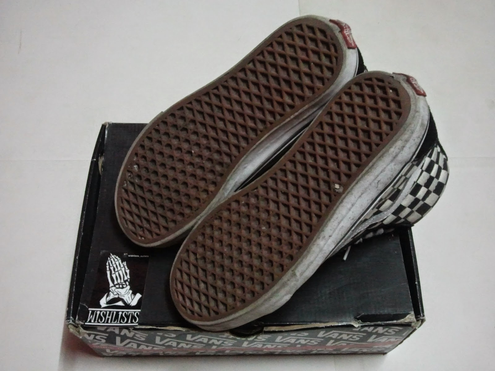 68e5b1671a (WL-2497) Sk8-Hi Checker Shoes By Bones Brigade X Vans Footwear. Price    Sold Size   us7   uk6. Color   Black White Condition   9 10. Made   China