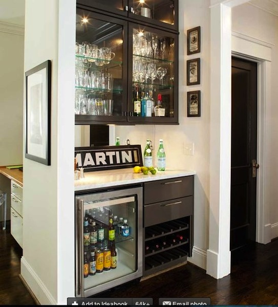 Sweet Chaos Home: Wet Bar Under The Stairs