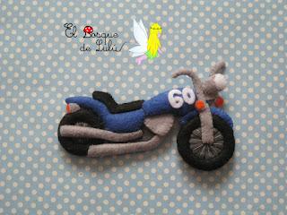 moto-fieltro-personalizada-elbosquedelulu-llavero-colgante-adorno-motero-felt-feltro-Harley-Davidson