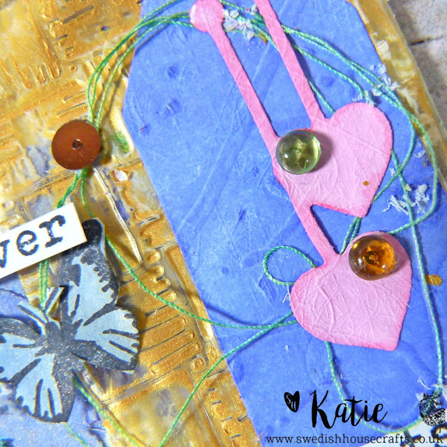 Mixed Media Tag Set using Crafter's Companion Embossing Folders  | By Katie