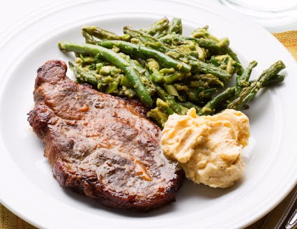 What did you have for dinner tonight? - Page 14 Porkchopsgreenbeansavocado