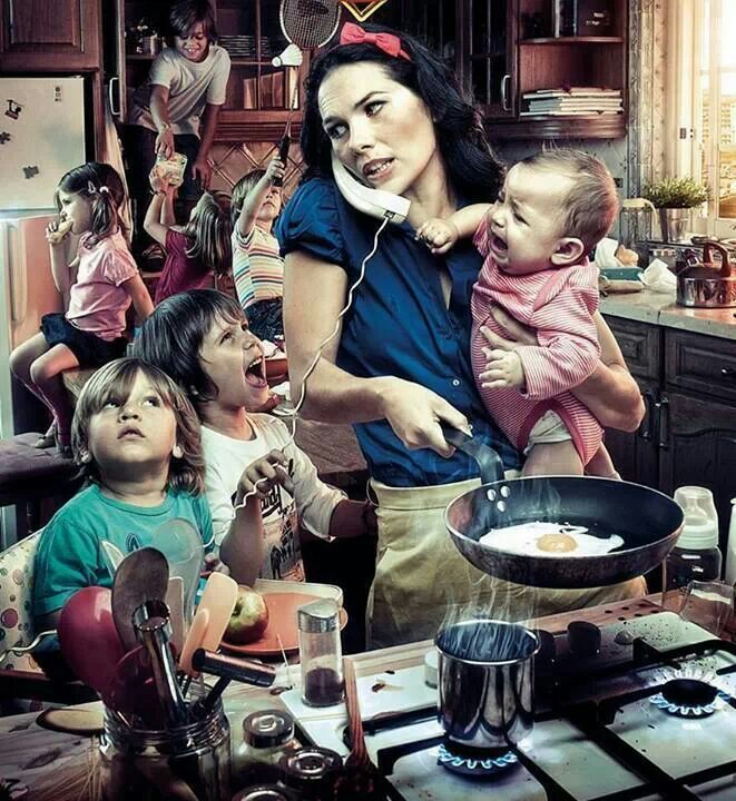 Matki to mają życie! Siedzą w domu i nic nie robią!