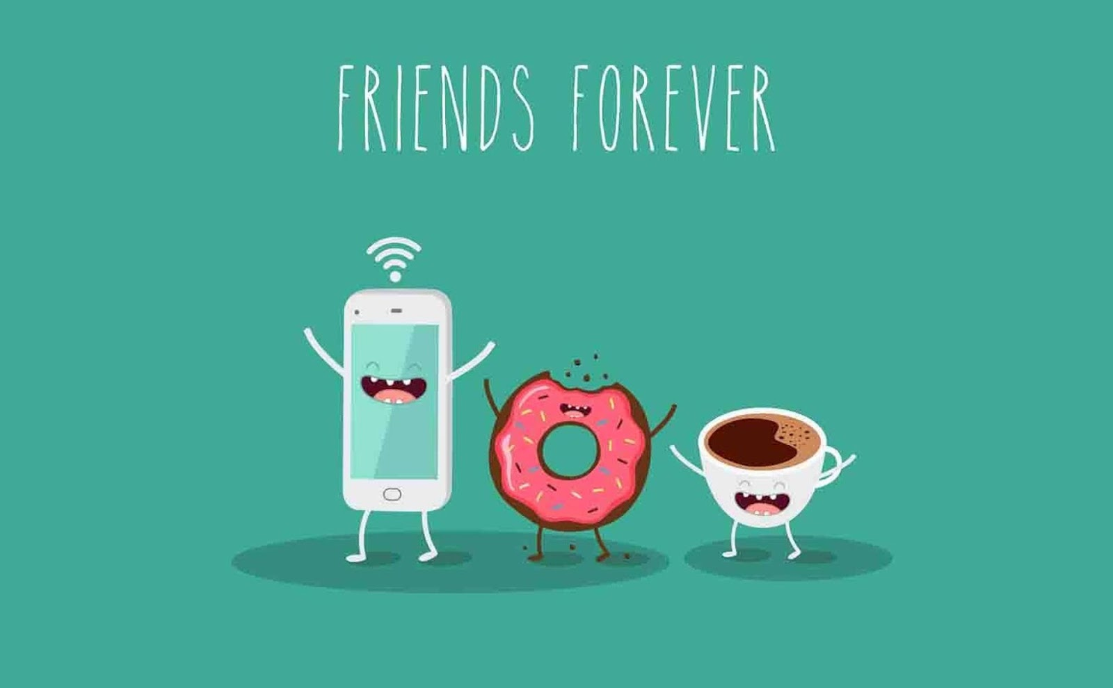 WALLPAPER FRIENDS FOREVER FUNNY Gambar Kartun Lucu Dan Wallpaper
