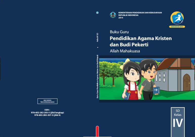 Download Gratis Buku Guru Pendidikan Agama Kristen dan Budi Pekerti Kelas 4 SD Kurikulum 2013 Format PDF