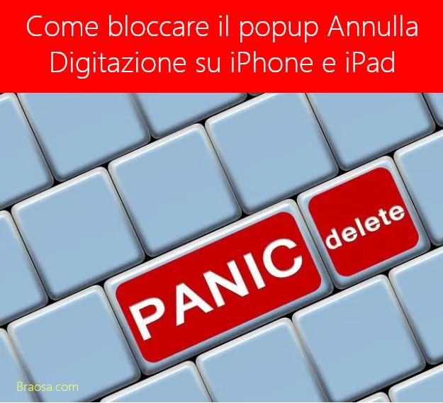 Come bloccare e disabilitare il popup Annulla digitazione su iPhone e iPad