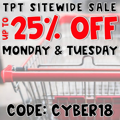 Big Cyber Sale Monday and Tuesday at TeachersPayTeachers!