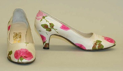 Rose printed shoes from Balenciaga's Spring/Summer 1958 collection