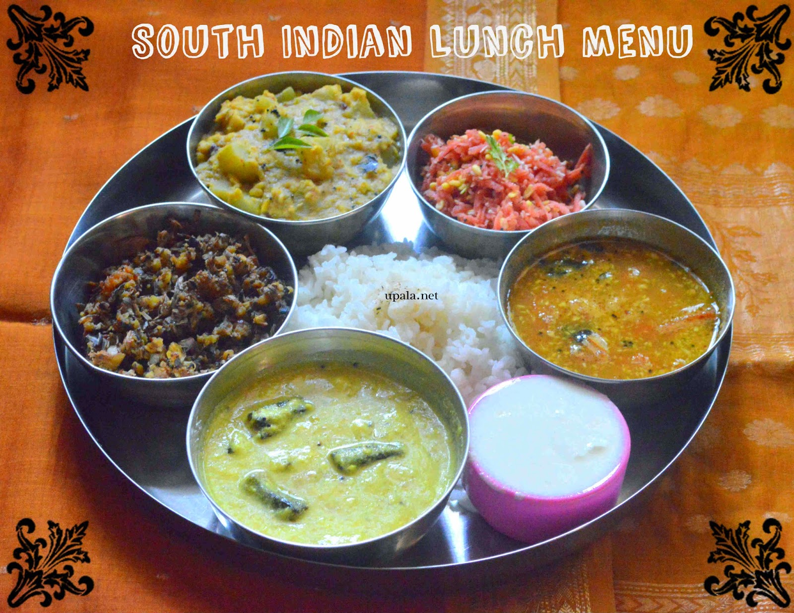 South indian lunch menunu