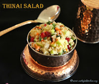 images of Thinai Salad / Foxtail Millet Salad - Healthy Salad Recipes