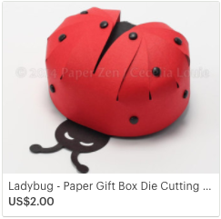 SVG Lady Bug Gift Box Birthday Party