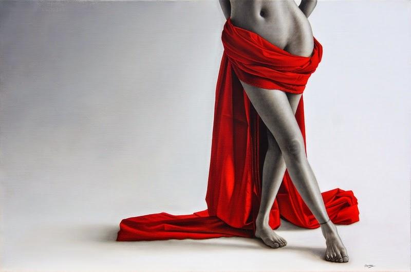 Coroa de Espinhos - Omar Ortiz | Pintura Sensual Hiper-Realista  - Mexicano