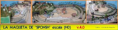 """LA MAQUETA DE  """"SPONSH"""" escala (H0)    v.3.0"""