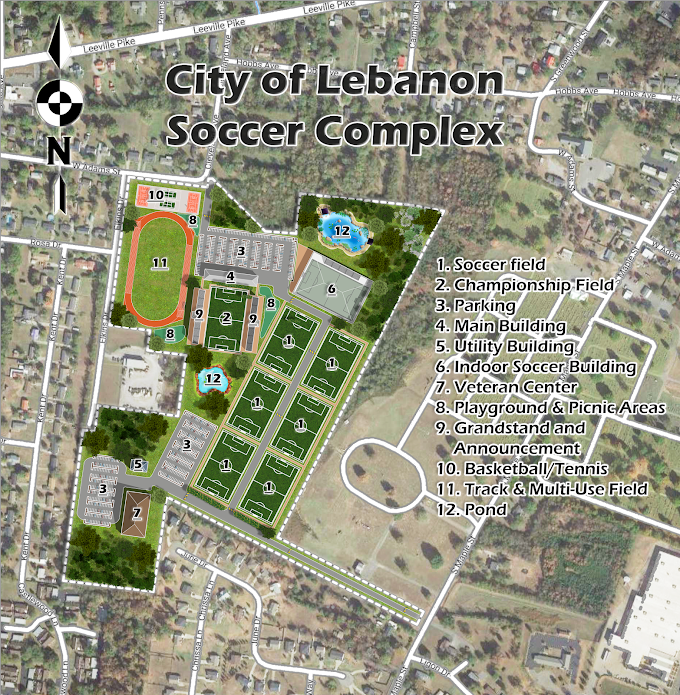 Soccer Complex, City of Lebanon, Tennessee, USA