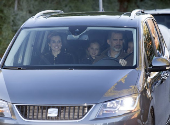 "Queen Letizia, Princess Leonor and Princess Sofia visited Jesus José Ortiz who is the father of Queen Letizia for the celebrations called ""Epiphany Day"