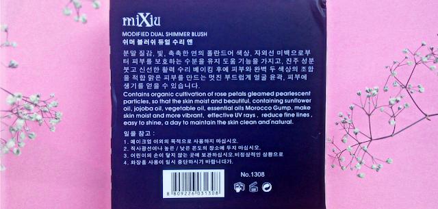 MiXiu Modified Dual Shimmer Blush