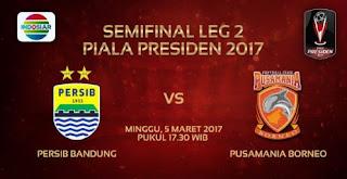 Persib vs Pusamania Borneo disiarkan langsung Indosiar mulai Pkl. 17.30 WIB.