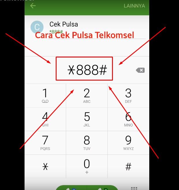 Dengan Menghubungi *888# Untuk Cek Pulsa Telkomsel
