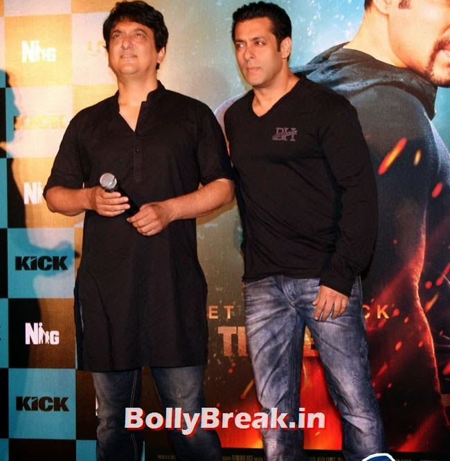 Sajid Nadiadwala and Salman Khan, Salman, Jacqueline sizzles at Kick Film Trailer Launch