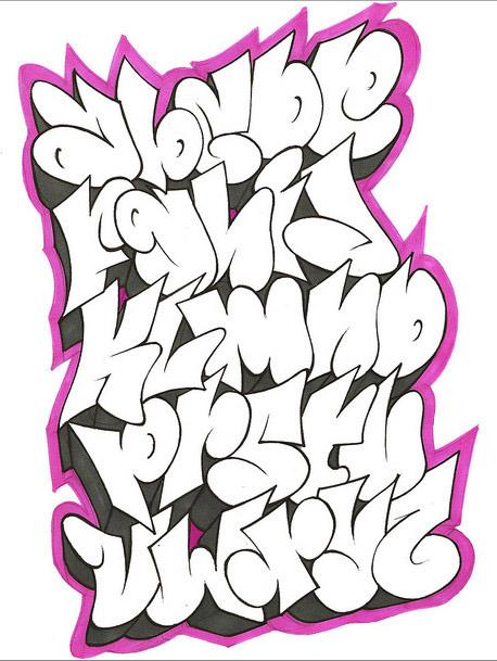 56treeedeert: graffiti alphabet styles 3d
