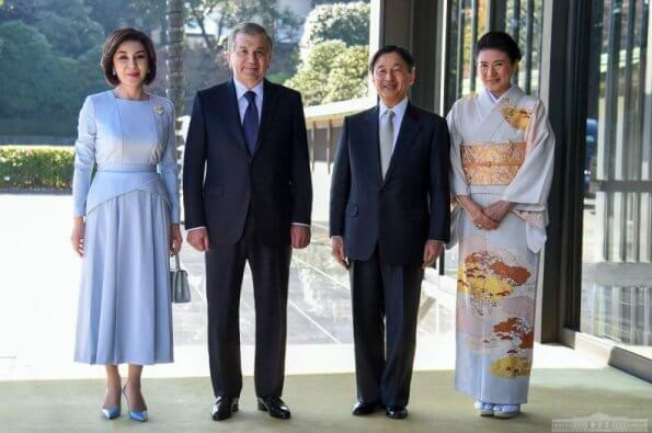 Empress Masako welcomed President Shavkat Mirziyoyev and his spouse Ziroat Mirziyoyeva at Imperial Palace