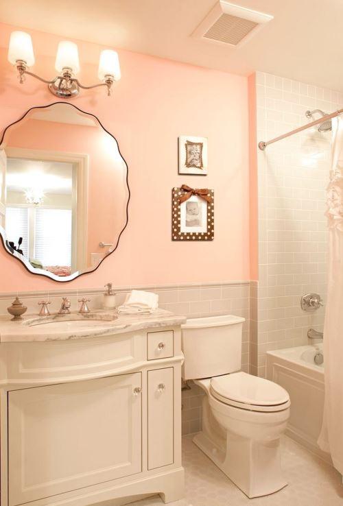 Pinkish bathroom