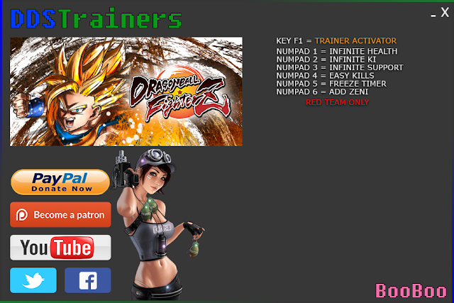 Dragon Ball FighterZ Trainers and Cheats for PC