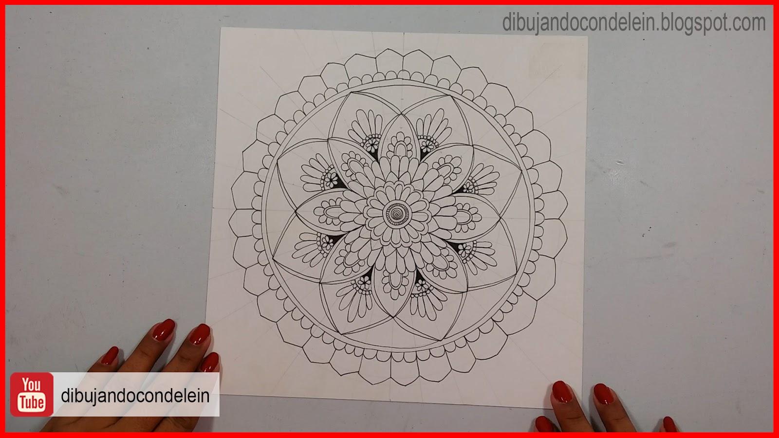 Dibujando Con Delein Como Hacer Una Libreta De Dibujo: Dibujando Con Delein: Como Dibujar Un Mandala Paso A Paso