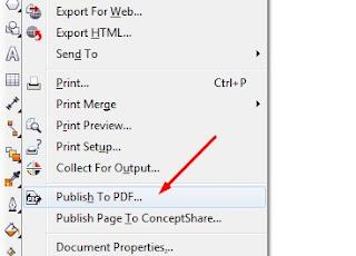 Convert File Corel ke Pdf