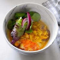 Moussaka vegetariana de beringela e batata doce
