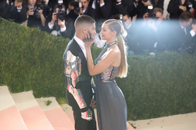 Zayn Malik with Gigi Hadid at the 2016 Met Gala. Photo: Getty Images
