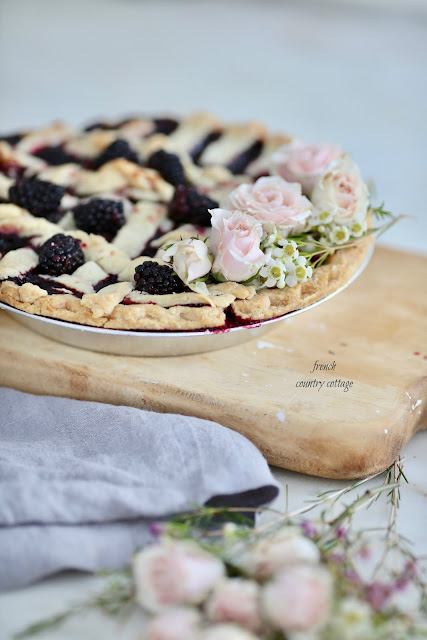 French Country Fridays- Floral topped pie