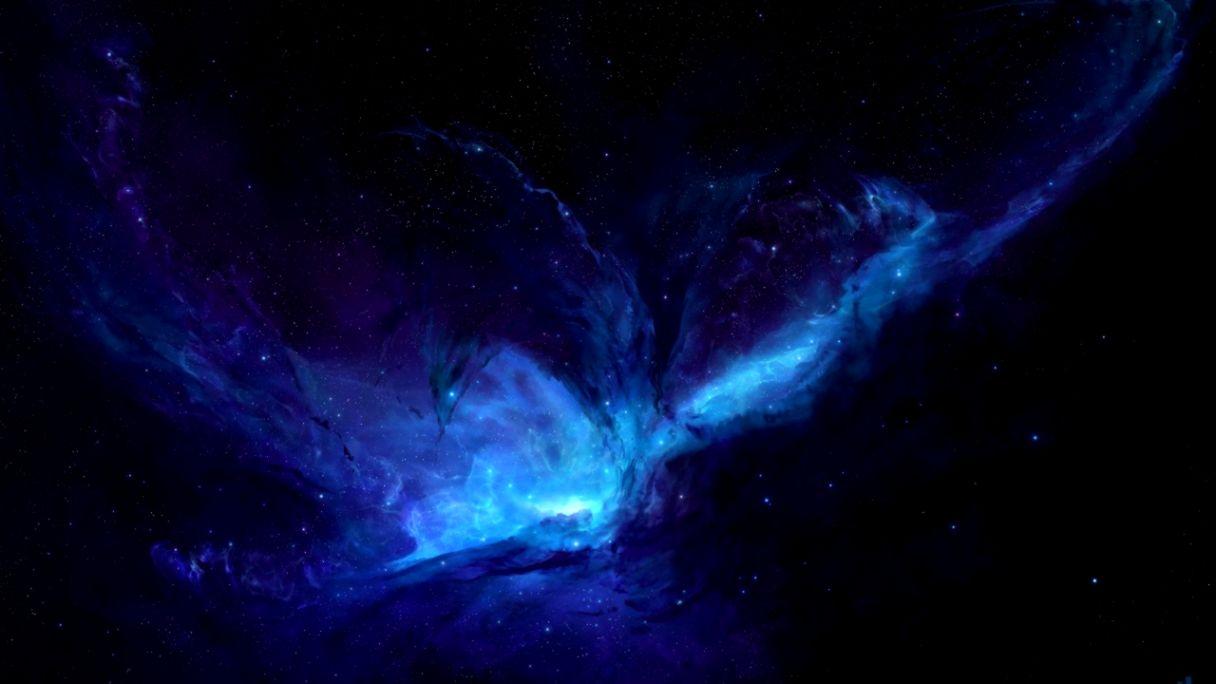 Blue Nebula Hd Wallpaper