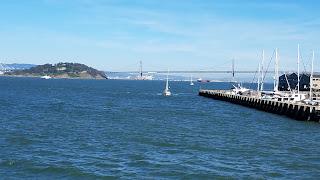 The Bay Bridge as seen from Fisherman's Wharf