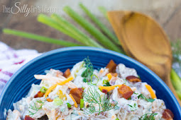 Cheddar Bacon Ranch Potato Salad - Easy To Make