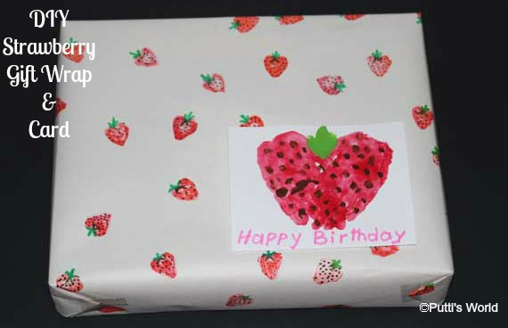 Strawberry Gift Wrap card