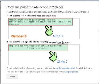 Cara Mendapatkan Kode Iklan AMP Auto Ads Beta Google Adsense