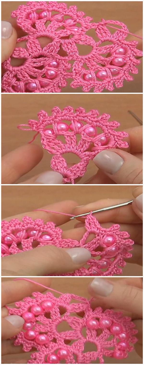 Crochet Beaded Tape
