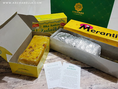 Box Omiyago yang berisi Bolu Meranti dan Bika Ambon Zulaikha (Dok.Pri)