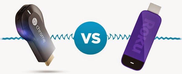 modem comparison: Google Chromecast vs  Roku Streaming Stick